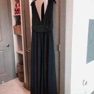 Lulu's Heavenly Hues Black Maxi Dress